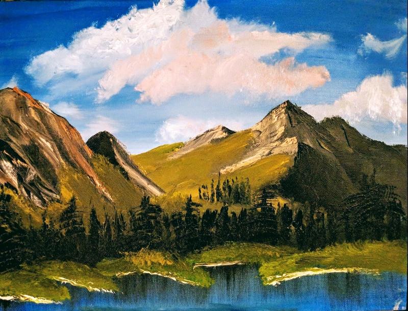 Mountain Ridge Lake The Joy Of Painting S23e3