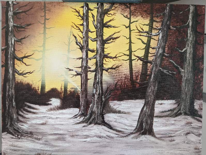 Rustic Winter Woods