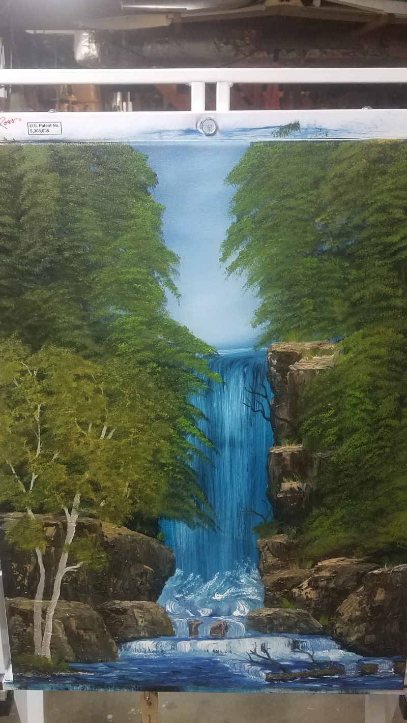 Graceful Waterfall - The Joy of Painting S24E8