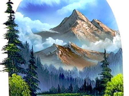 Red And Yellow Mountain Painting