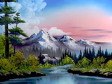 Images Of Bob Ross Animal Paintings