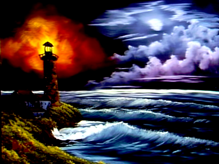 Bob Ross Painting Light House