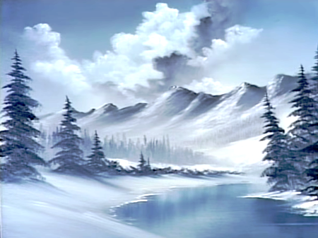 ff3bd94f7 Blue Winter - The Joy of Painting S21E10