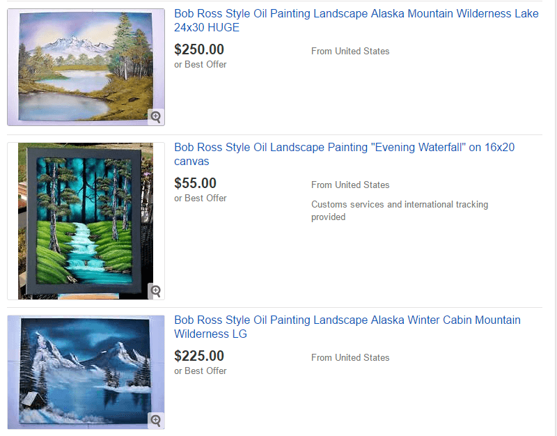 So You Want To Buy A Bob Ross Painting – TwoInchBrush